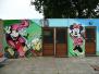 Muren gepimpt met Graffitti
